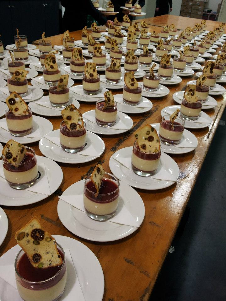 Corporate event catering desert for BMW event